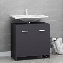 Armario de cuarto de baño aglomerado gris