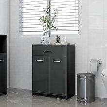 Armario de cuarto de bano aglomerado gris 60x33x80
