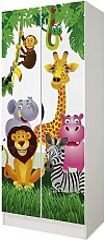 Armario de dos puertas - Animales de la selva