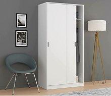 Armario de dos puertas correderas, color blanco,