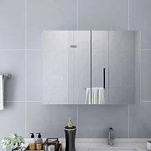 Armario de espejo de bano MDF blanco 80x15x60 cm