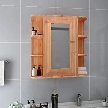 Armario de espejo de bano MDF color roble 66x17x63