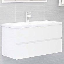 Armario de Lavabo: Blanco con Brillo Mueble con