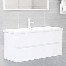 Armario de Lavabo: Blanco Mueble con Lavabo