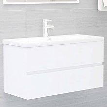 Armario de Lavabo: Blanco Mueble con Lavabo Blanco