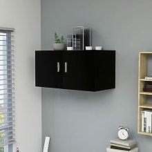 Armario de pared aglomerado negro 80x39x40 cm