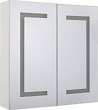 Armario de pared con espejo e iluminación LED