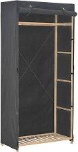 Armario de tela gris 79x40x170 cm - Gris