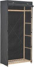 Armario de tela gris 79x40x170 cm - Hommoo