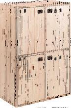 Armario Dinamic de 4 puertas de madera de pino con