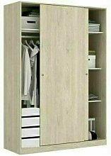 Armario Dormitorio 120 CON CAJONERA natural, de 2