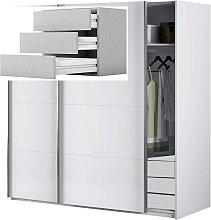 Armario Dormitorio Blanco 204 Puertas correderas,
