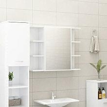 Armario espejo de bano aglomerado blanco brillante