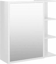 Armario espejo de baño aglomerado blanco brillo