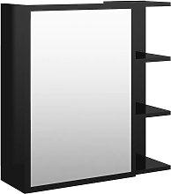 Armario espejo de baño aglomerado negro brillo