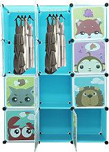Armario Modular Infantil de 10 Cubos,Organizador