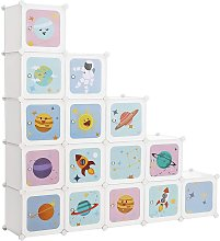 Armario Modular Infantil de 16 Cubos, Organizador