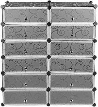 Armario Modular Plástico Estantería 12 Cubos con