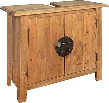 Armario tocador cuarto de bano madera reciclada