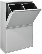 Arregui Basic Cubo de basura y reciclaje de acero