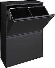 Arregui Cubo de Basura Acero de 4 Cubos, Mueble de