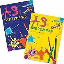 Artbox - Bloc de dibujo (A3, 30 unidades), varios