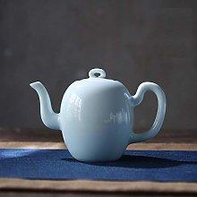 Artículos de té, tetera de cerámica verde,