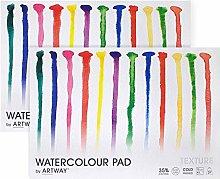 Artway Watercolour Pad Bloc de dibujo A3, Papel