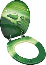Asiento de Inodoro con Tapa MDF Verde diseño Gota