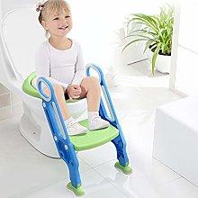 Asiento de inodoro para bebés plegable y