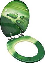 Asiento WC Tapa de Cierre Suave MDF Verde diseño