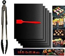 ASKLKD Grill Mat Conjunto de 5, Parrilla Mat 100%