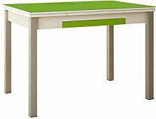 ASTIMESA Mesa de Cocina con Alas de Cristal Verde