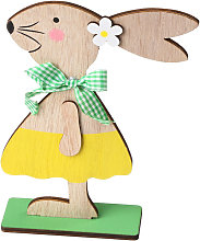 Asupermall - 1PC adornos de madera Tabla Conejos
