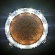 Asupermall - 2 luces de anillo Cornhole y luces de