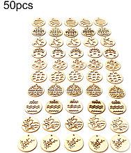 Asupermall - 50pcs Huevos de Pascua de madera que