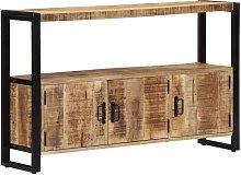 Asupermall - Aparador 120x30x75 cm madera maciza