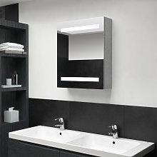 Asupermall - Armario de bano con espejo LED gris