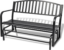 Asupermall - Banco balancin negro de acero