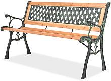 Asupermall - Banco de jardin 122 cm de madera