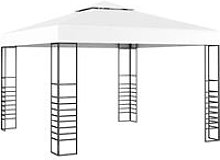 Asupermall - Carpa cenador de jardin blanco 3x3 m