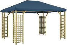 Asupermall - Cenador azul 4x3 m