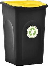 Asupermall - Cubo de basura con tapa de bisagra 50