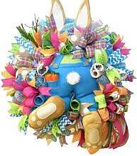 Asupermall - Decoracion de Pascua conejito Garland
