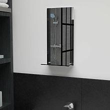 Asupermall - Espejo de pared con estante de vidrio
