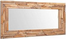 Asupermall - Espejo decorativo de teca 120x60 cm