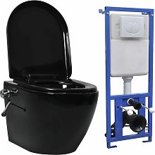 Asupermall - Inodoro WC de pared sin bordes