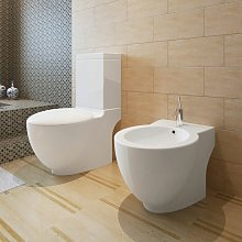 Asupermall - Juego de vater WC y bide de ceramica