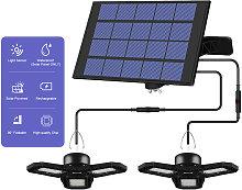 Asupermall - Luz LED solar para garaje para