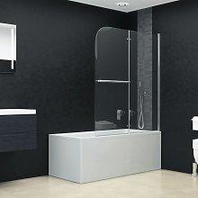 Asupermall - Mampara de ducha plegable 2 paneles